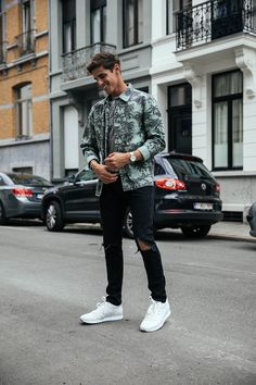 MATTGSTYLE by Matthias Geerts | Wearing COS tee, JACK&JONES jacket, ASOS jeans, HOGAN sneakers, BRATHWAIT watch in Antwerp, Belgium
