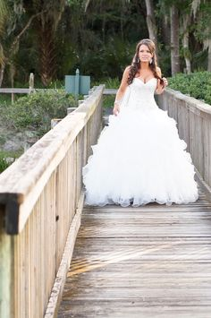 Ruffled wedding dress by Jon's Bridal - Gold, Ivory, and Champagne Tampa Palms Country Club Wedding Part 1 – Tampa Wedding Photographer Ashfall Mixed Media