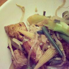 Stir Fry on Brown Rice.