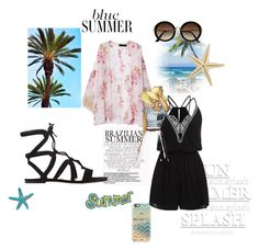 """""""Sem título #8987"""" by nathsouzaz ❤ liked on Polyvore featuring Gianvito Rossi, H&M and Casetify"""