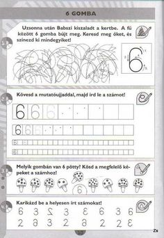 Albumarchívum Paper Trail, Writing Numbers, Math Activities, Kids And Parenting, Worksheets, Periodic Table, Alphabet, Preschool, Teaching