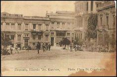 Πλατεια αγιου Κωνσταντινου Πειραιας Old Photos, Vintage Photos, Greek Culture, Once Upon A Time, Old Town, Athens, Greece, The Past, History