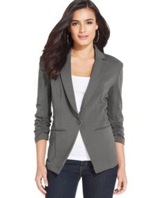 Style & Co. Solid-Knit Fitted Blazer, Only at Macy's