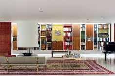 LOVE: book case Image result for miller house columbus indiana