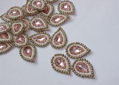 Indian Applique / Drop shape rhinestones applique / by Kalakruti, $3.00