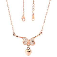 Platinum Plated/Rose Gold Plated Necklaces by UloveFashionJewelry, $9.82