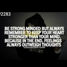 strong mind and strong heart