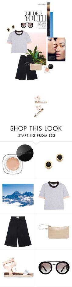 """""""Gilded"""" by mathilda-moo ❤ liked on Polyvore featuring Marc Jacobs, Marc by Marc Jacobs, Jagger, Balenciaga, Frame Denim, N'Damus, Miss KG and Prada"""
