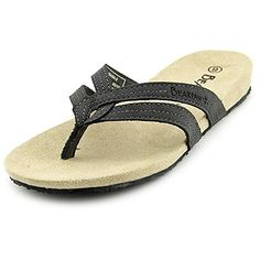 398885b1da4 BearPaw Womens Lola Fisherman Sandal Solid Black Size 9 * You can get  additional details at. Flip Flop SandalsFlat ...