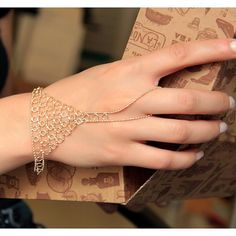 Hand Chain-Hand Jewelry-Hand Bracelet-Ring Jewelry-Ankle Jewelry-Minimalist Design-Golden Tiny Bracelet