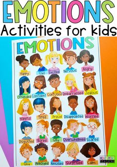 Teach coping skills and self-regulation strategies with this social-emotional learning activity covering 25 emotions. Identify emotions and feelings including Anger, Worried, Sad, Scared, Calm, and more. Includes a digital version for use with Google Slides and Google Classroom for digital learning. #SEL #emotions Elementary School Counseling, School Counselor, Elementary Schools, Emotions Activities, Learning Activities, Activities For Kids, Emotional Child, Social Emotional Learning, Self Regulation Strategies