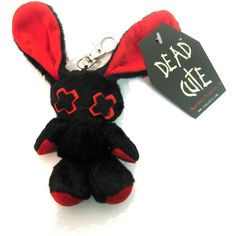 Luv Bunny Key Chain Doll Red | Gothic Clothing | Emo clothing |... ($6.02) via Polyvore