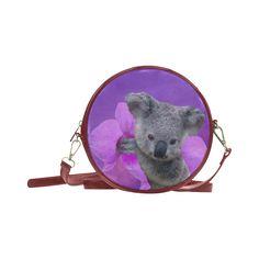 Koala Round Messenger Bag. FREE Shipping. #artsadd #bags #koalas