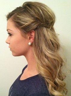 Easy Half Up Hairstyle for Medium Hair