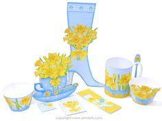 Anni Arts March Birth Flower and Gem Printable Crafts