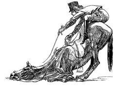 """High Horsemanship"" by Heinrich Kley"