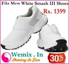 d8e6e1dc551 Fila Men White Smash III Sports Shoes Rs. 1399