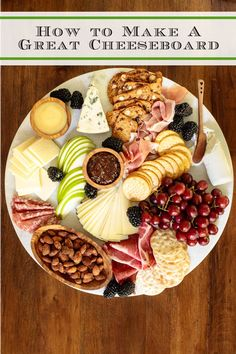 Whether you need a pre-dinner snack or want to make it a whole meal, these are our best tips and tricks for making a cheeseboard. #cheeseboard #easyappetizer #howtomakeacheeseboard Fall Appetizers, Appetizer Recipes, Appetizer Ideas, Cheese Appetizers, Christmas Appetizers, Dinner Party Menu, Fall Dinner, Cheese Platters, Food Platters
