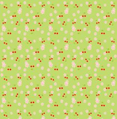 "free digital ""cherries and cherry blossoms"" scrapbooking papers - ausdruckbares Geschenkpapier mit Kirschen - Freebies 