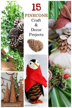 15 Pinecone Craft And Decor Projects Including Fairies Tiny Animals Fire Starters Wreaths