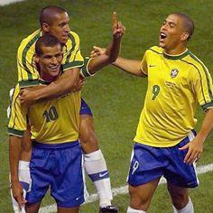 Ronaldo, Roberto Carlos e Rivaldo 1998