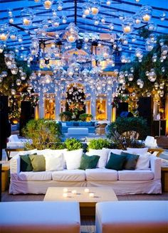 10 Lounge Areas That Will Totally Make Your Wedding: #3. Your guests will feel like they fell straight into a fairy tale when they sit down at this enchanting lounge area.