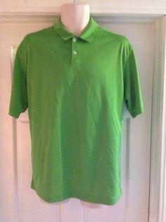 Nike-Golf-DRI-FIT-Green-100-Polyester-Athletic-Polo-Shirt-Size-Medium-M