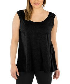 This Black Reversible Sleeveless Top - Plus is perfect! #zulilyfinds
