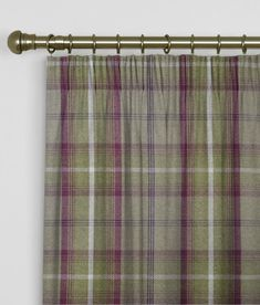 SAVE 25% Made To Measure Curtains Balmoral Heather - Made To Measure Curtains Arcadia Textiles - Made to measure curtains Balmoral Heather. A very thick and luxurious woven check design, heavy weight curtains,