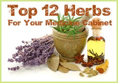 Learn how to stock your herbal medicine cabinet with these favorite herbs and their uses, as well as most used essential oils and supplies.