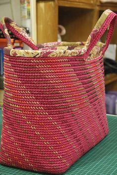 Sashiko on Crochet bag