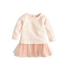 J.Crew baby tulle sweatshirt dress in fresh blossom. Too Adorable