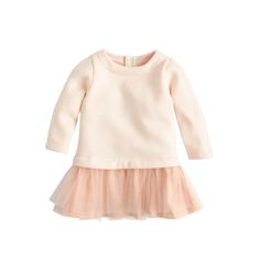 J.Crew baby tulle sweatshirt dress in fresh blossom. Too Adorable