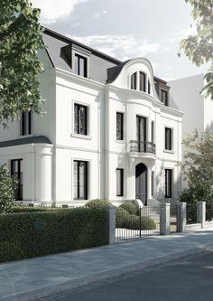 FOR THE HOME || All white mansion living inspiration | Villa, Düsseldorf Oberkassel || NOVELA BRIDE...where the modern romantics play & plan the most stylish weddings... www.novelabride.com @novelabride #jointheclique