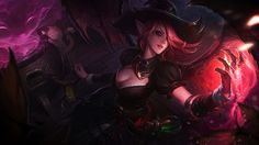 Bewitching Morgana Splash Art Skin Wallpaper