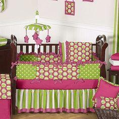 Pink amp lime green stuff on pinterest crib bedding sets baby bedding
