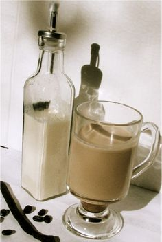 Homemade vanilla coffee creamer.  The real thing!