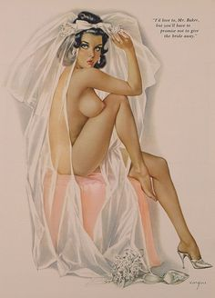 Bride Pin Up By Alberto Vargas