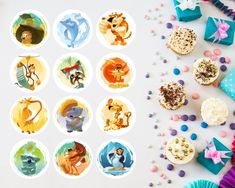 Items similar to Cupcake Toppers. 12 Cure Animals Illustrations, Baby Shower, Sprinkle Decor, Printable Sweet on Etsy Cupcake Toppers, Sprinkles, The Cure, Printable, Baby Shower, Illustrations, Art Prints, Unique Jewelry, Tableware