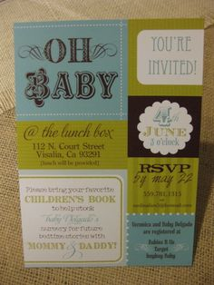 book and gift invite