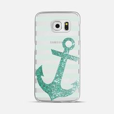 Glitter Anchor in Mint - Classic Snap Case Android Phone Cases, Girly Phone Cases, Phone Covers, Iphone Cases, Samsung S7 Edge Cases, Phone Accesories, Earphone Case, Ipad Mini, Raven