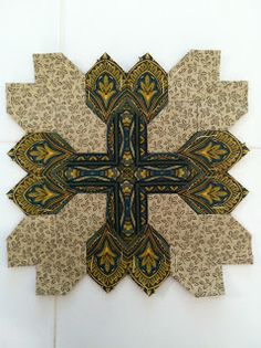 Ramblings of a quilter: Patchwork of the Crosses Progress!