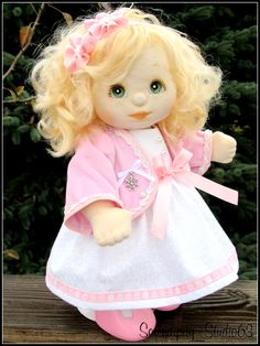 OOAK Mattel My Child Doll in OOAK Winter Outfit My Child Doll, Soft Sculpture, Ooak Dolls, My Children, Bookmarks, Princess Peach, Winter Outfits, Sewing, Cute