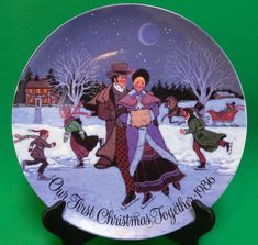 1986 Current Inc. Christmas Collector Plate, Our First Christmas Together