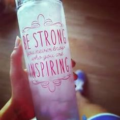 BE STRONG! ❤ You never know who you're inspiring!!! Check out these bottles on fitgirlsdiary.com #motivational #bottles #fitness #quote #fitgirlsdiary #inspire #bestrong #inspiring#fitspo #fitgirl #loveit #befit #getfit #healthy #drink #water #hydrate #sportbottle #waterbottle #quotes #bottle #fitgirls #valentine #day #gift #idea