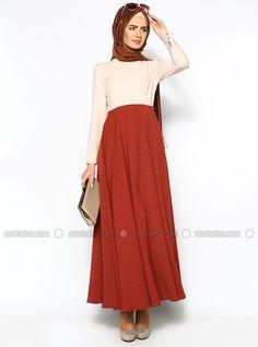 Autumn Dress - Red - Pınar Şems