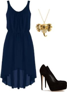 """My general dress thought for 8th grade graduation."" by alliebeltran ❤ liked on Polyvore"