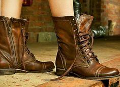 Shop Women's Steve Madden Brown size 6 Combat & Moto Boots at a discounted price at Poshmark. Description: Steve Madden troopa boots in brown, good condition. Sold by tas_saz. Steve Madden Stiefel, Steve Madden Troopa Boots, Ugg Boots, Combat Boots, Shoe Boots, Moto Boots, Ankle Boots, Stilettos, Men Boots
