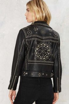 Nasty Gal Who's That Girl Studded Leather Jacket - What's New