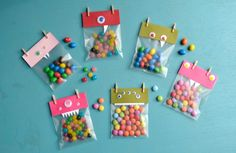 sacs bonbons monstre Halloween
